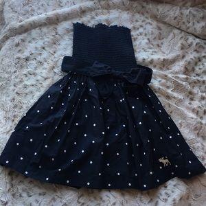 Abercrombie & Fitch navy polka mini dress XS